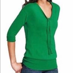 CAbi mid Sleeve Green Sweater
